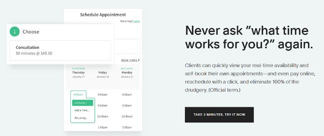 simple online scheduling software to manage your bookings