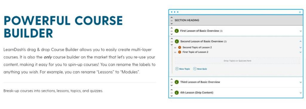 learndash powerful course builder