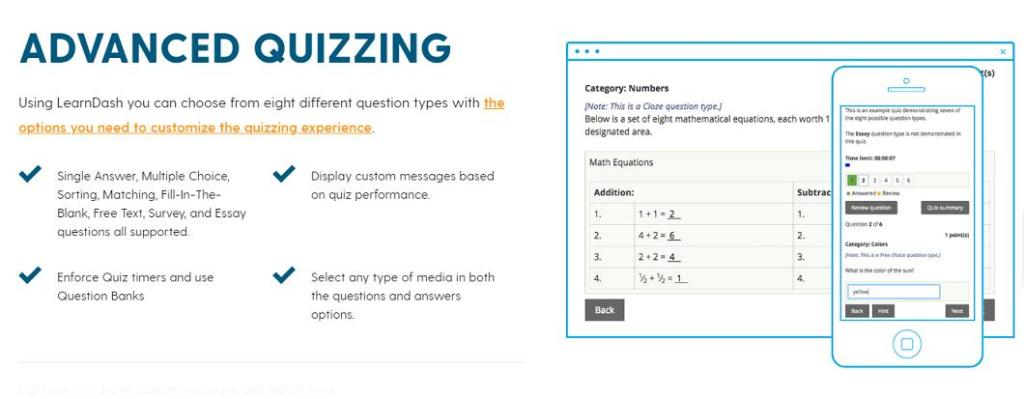 advance quizzes making platform