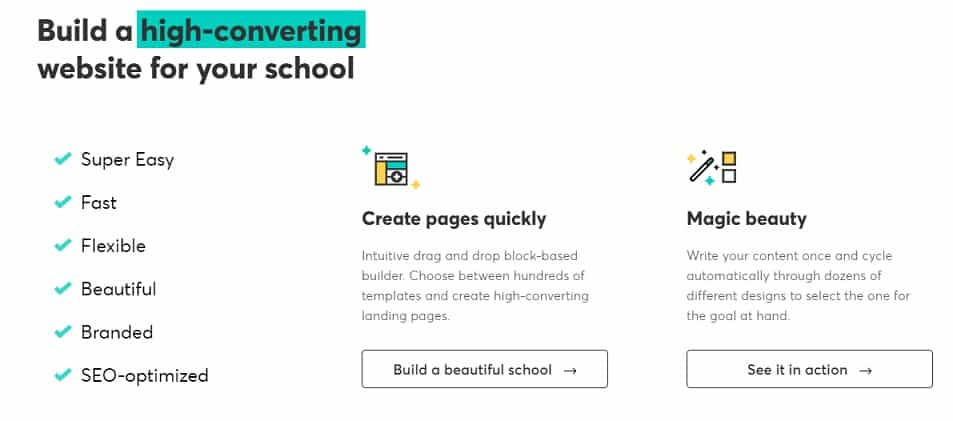 build high converting online school