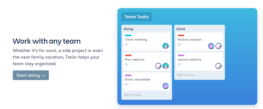 manage & work within a team