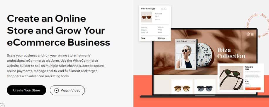WIX a perfect eCommerce platform