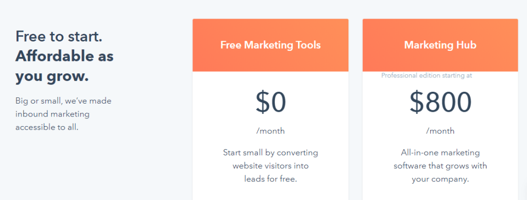 Hubspot email marketing subscription plans