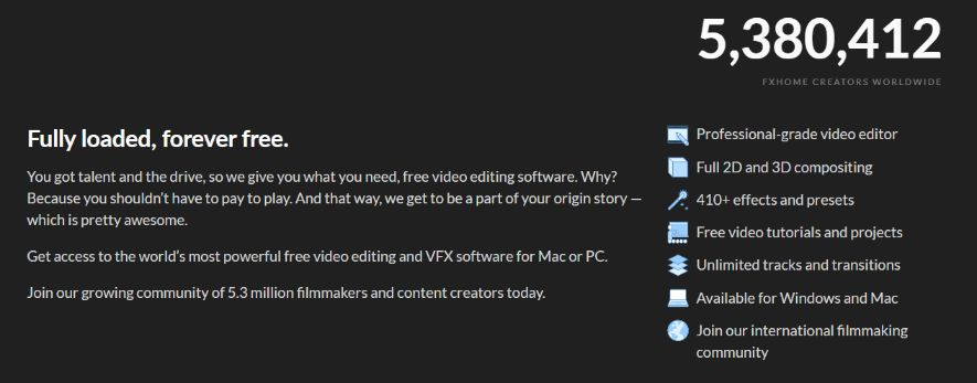 Completely free video editor