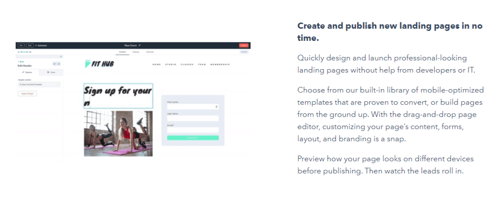 Easy & Fast drag and drop website builder