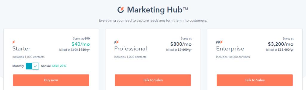 Hubspot subscription plans