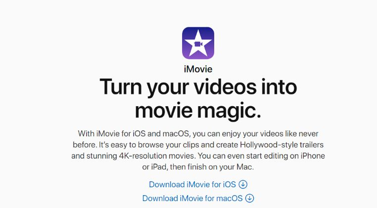 Apple iMovie Maker