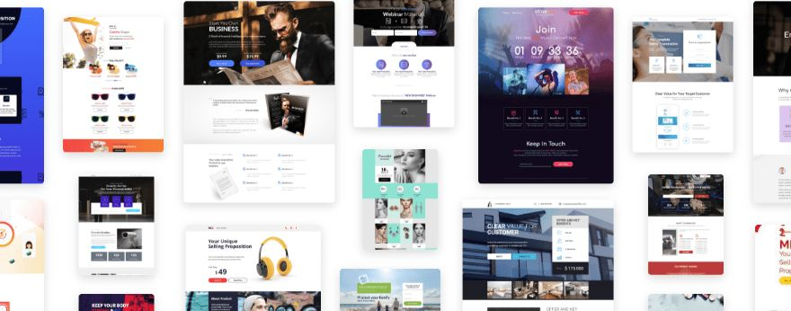 Huge Collection of Pre-designed and Optimized Landing Page