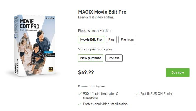 Magix Movie Edit Pro pricing model