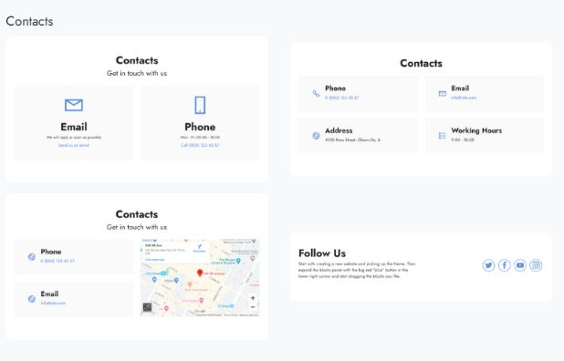 adding contact information & Google map in your website is easy as 1-2-3