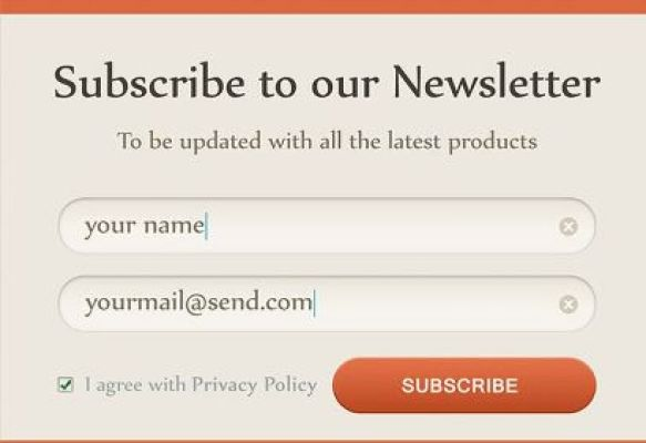 use simple subscription form to collect potential leads for your email marketing campaign