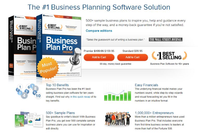 Business Plan Pro is best solution when you want a stand alone software