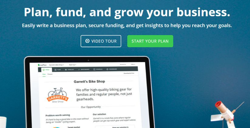 LivePlan is a good solution for planning your business in advance