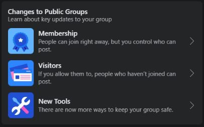 choose membership options for your group.