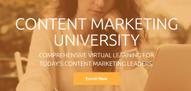 Grow your skill by enrolling to Content Marketing University Course.