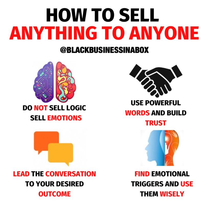 Do not sell logic instead sell emotions.