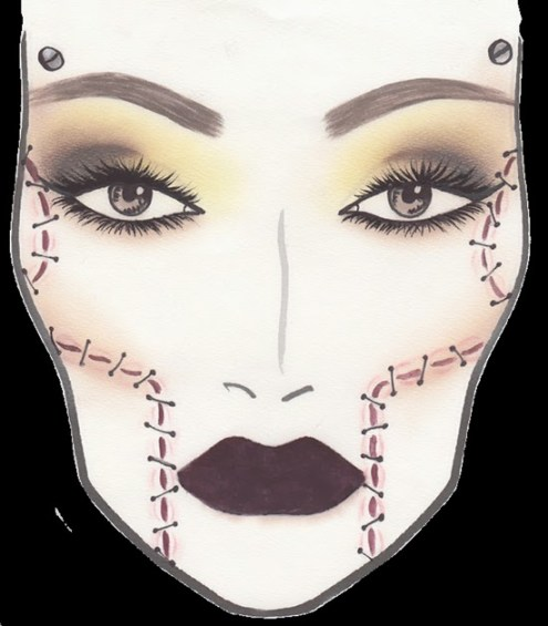 2013 Mac Halloween Face Charts - MAC x Rick Baker Collection Face Charts for Holiday 2013