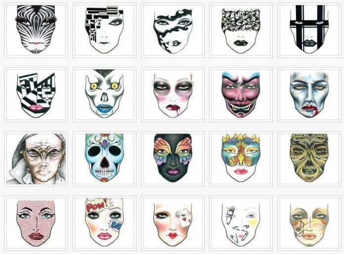 Alcune Face Charts di Mac