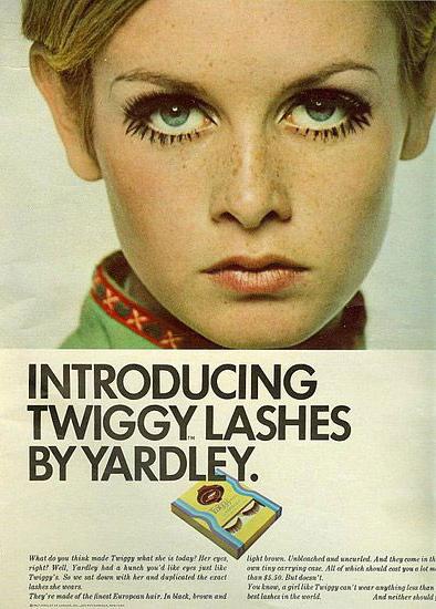 Uno dei primi modelli di Ciglia finte uscite in America e ispirate alla mitica Twiggy e al suo inimitabile stile!