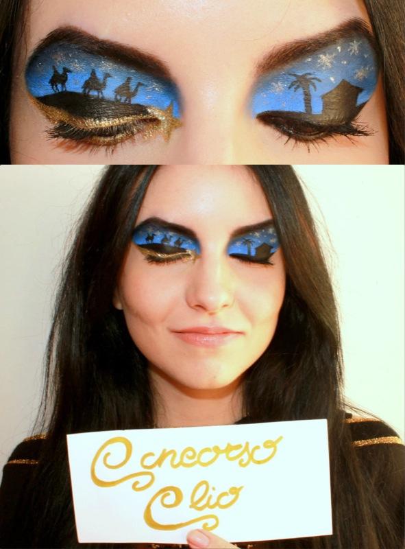 Un bellissimo make-up creato in occasione dell'ultimo concorso natalizio!