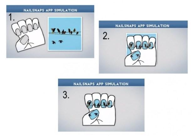 1. Scegli una foto 2. Posiziona lo stencil in base all'immagine 3. Indossa il tuo smalto personalizzato!