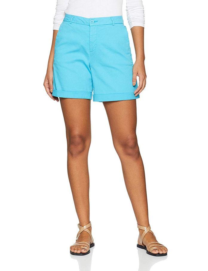 ClioMakeUp-come-indossare-camicia-jeans-20-pantaloncini-benetton