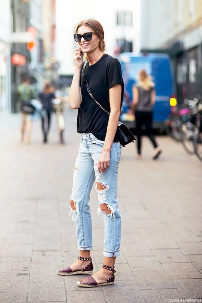 Cliomakeup-come-indossare-espadrillas-citta-3-jeans-maglietta-nera