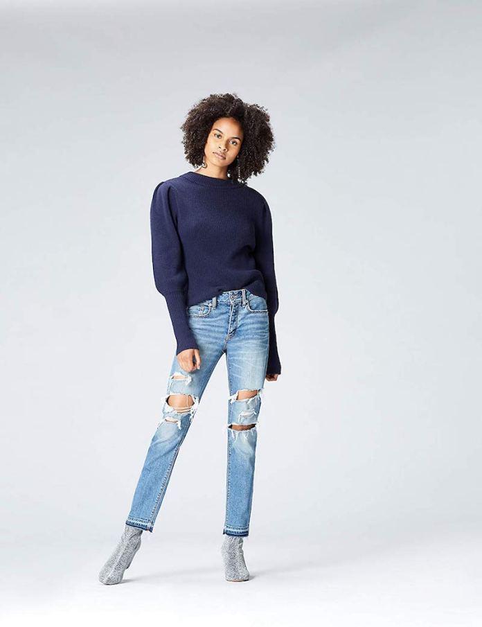 ClioMakeUp-jeans-stretti-5-amazon-find-maglione-maniche-sbuffo.jpg