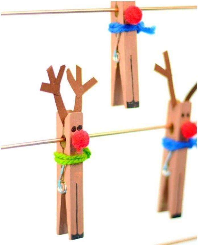 lavoretto renne con mollette per ponte dell'immacolata bambini