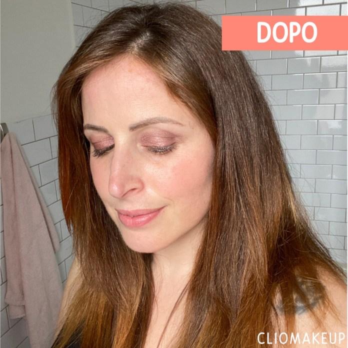 Effetto capelli Clio dopo l'applicazione delle maschere riflessanti Maria Nila