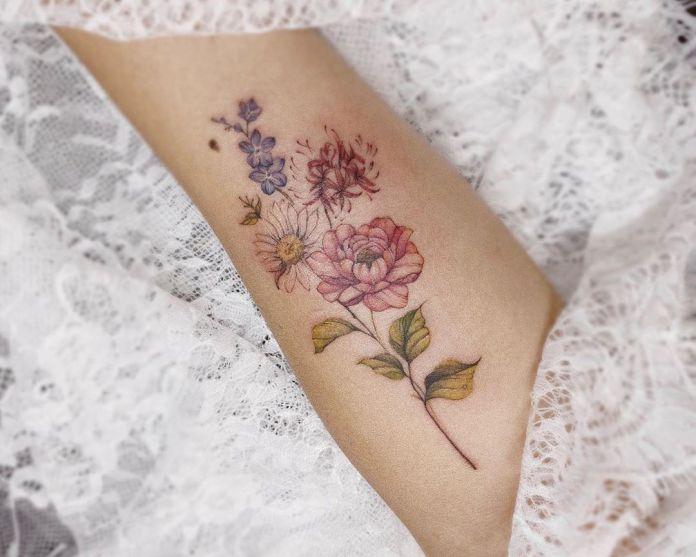 cliomakeup-tatuaggi-femminili-19-fiori-colorati