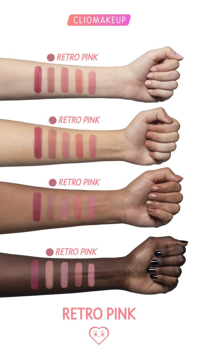 Cliomakeup-blush-in-polvere-retro-pink-4-swatches