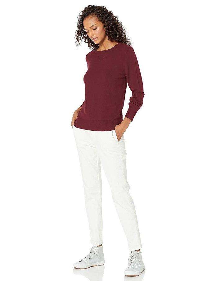 Cliomakeup-look-colori-autunnali-2-pullover-bordeaux