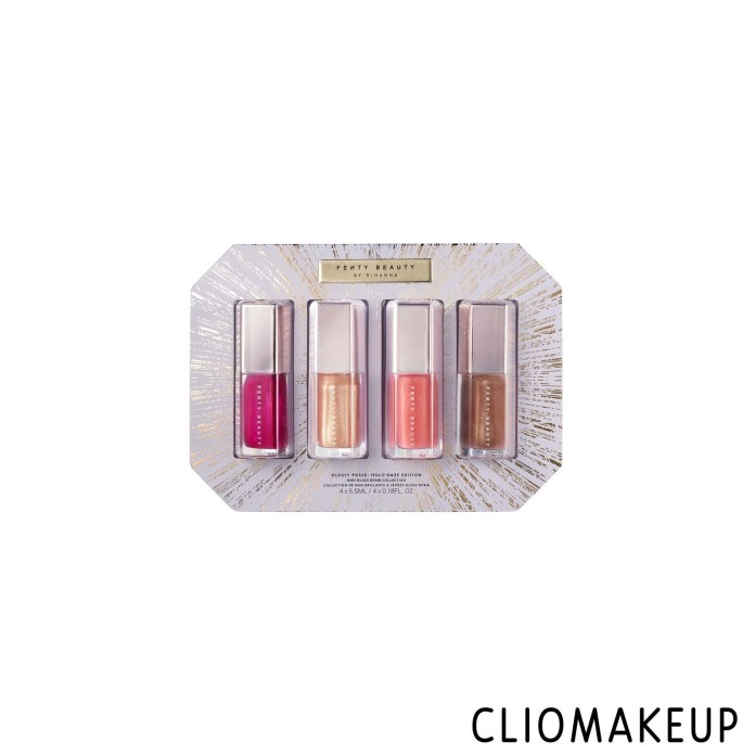 cliomakeup-recensione-gloss-fenty-beauty-glossy-posse-holodaze-christmas-1