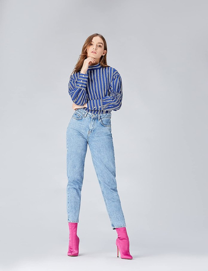 Cliomakeup-look-a-strisce-find-Camicia-a-Collo-Alto