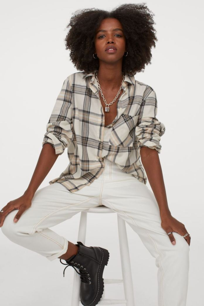 Cliomakeup-look-con-camicia-inverno-2021-12-hm-Camicia-cotone-beige