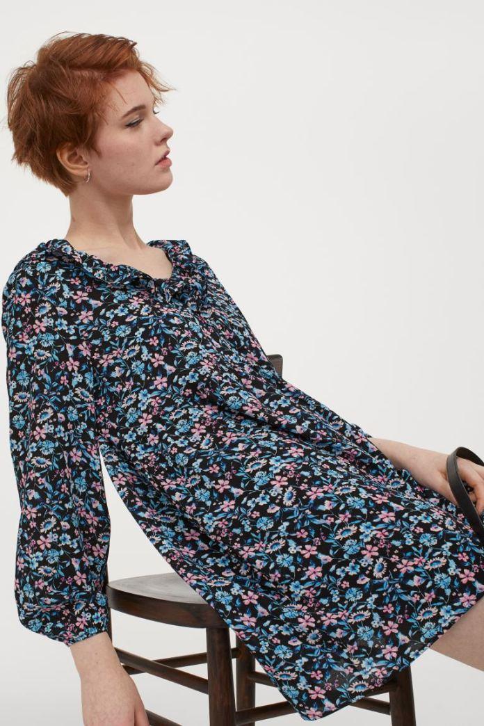 Cliomakeup-vestiti-floreali-primaverili-hm-Abito-corto-azzurro