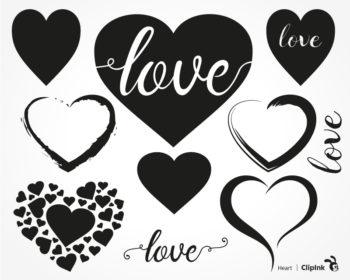 Download Heart svg, Love svg | svg, png, eps, dxf, pdf | ClipInk