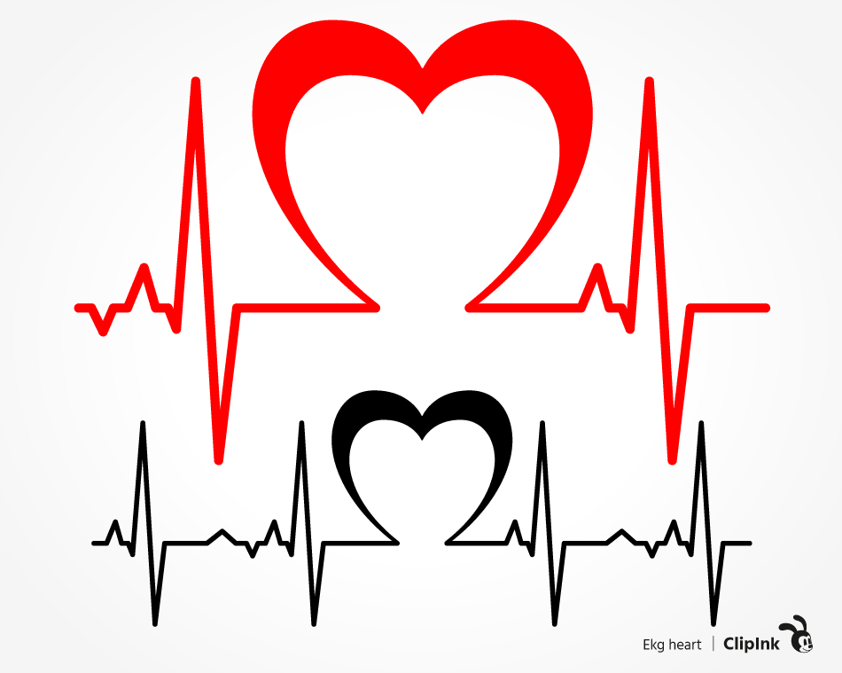 Download Ekg heart svg, Heartbeat love | svg, png, eps, dxf, pdf ...