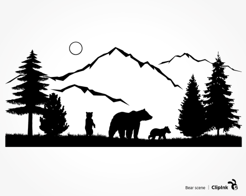 bear scene svg