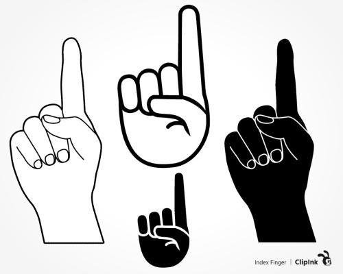 index finger svg