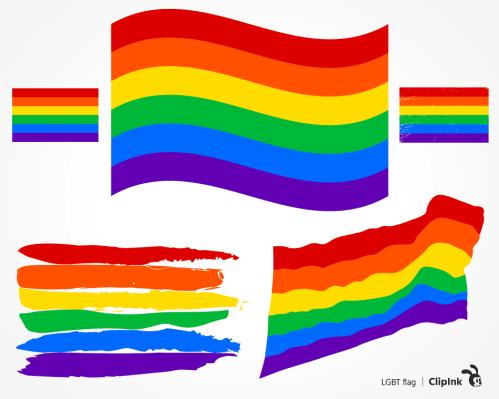 rainbow flag svg