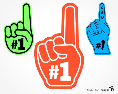 number one finger