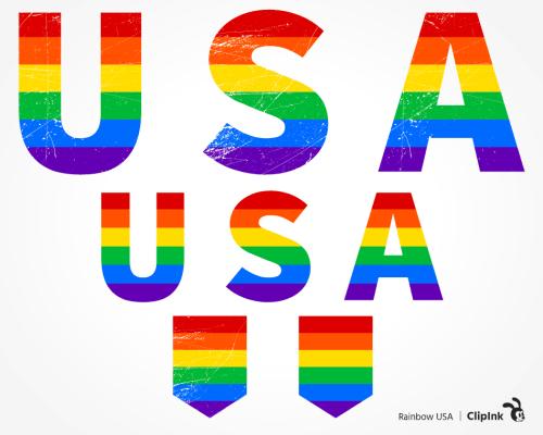 Rainbow USA svg