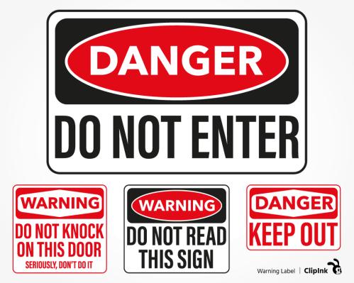 warning label svg