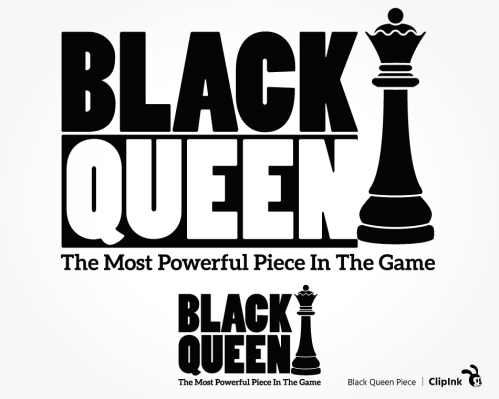 black queen chess svg