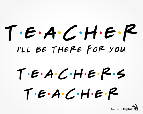 teacher friends svg
