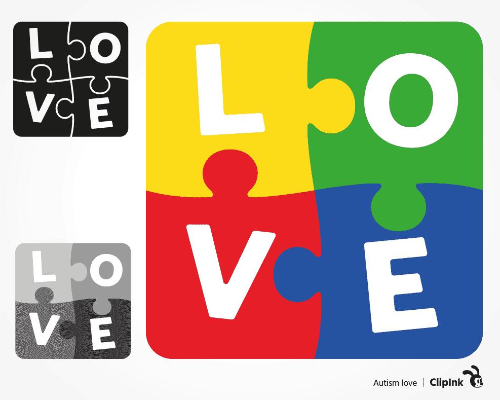 Download Autism love svg, puzzle word svg | svg, png, eps, dxf, pdf ...