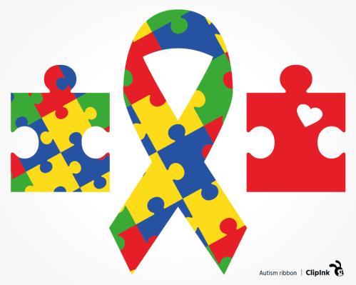 autism ribbon svg