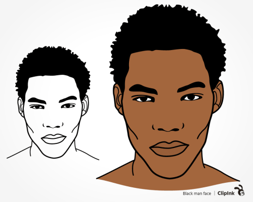 black man face svg